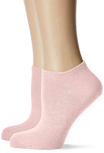 ESPRIT Damen Sneakersocken, 80% Baumwolle, Unifarben, weiche Baumwollmischung, Rosa (Tucano 8986), 35/38, 2er Pack
