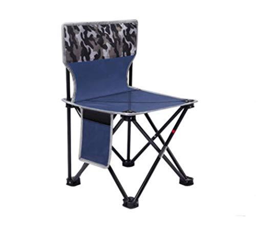 Silla plegable para exteriores, silla portátil, silla de pesca, taburete de pintura, taburete para bosquejo, silla de estudiante Mazza, taburete plegable (tamaño mediano) ZZ666 (tamaño: L)