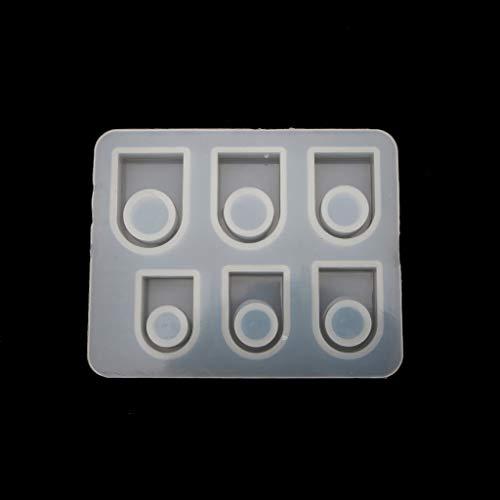 ZJL220 Tamaños variados - Molde para anillo cuadrado DIY - Anillo con cabeza rectangular para joyas US 7-12