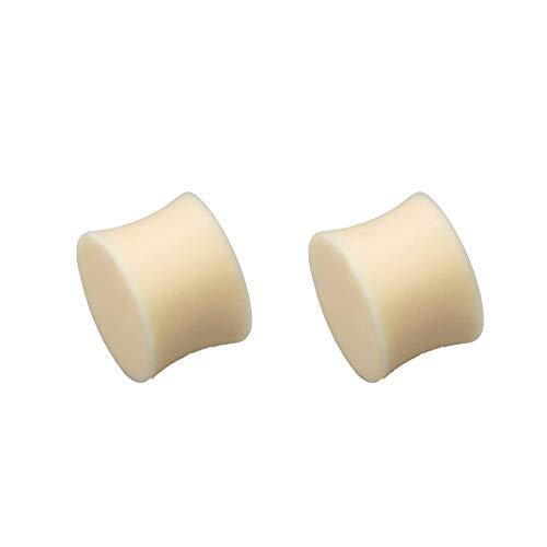 Plugs Hautfarbe 2er Set Piercing Ohrdehner Ohrplug Double Flared Retainer 10mm