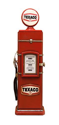 秋月貿易 CD・DVDラック TEXACO W24×D19.5×H84cm ガスポンプ CDホルダー 205MS3236