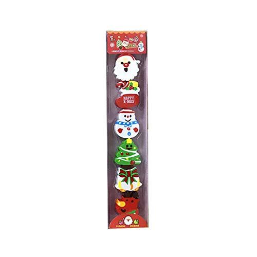 STOBOK borrador de navidad surtido de juguetes de borrador de lápiz recompensas de aula regalo de niños papelería escolar suministros de vacaciones favores de fiesta