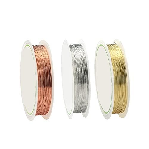 Artesanía de bricolaje Alambre de cobre de 0.2-1mm para collar de pulsera DIY Colorfast Beading Wire Beyry Cadena para la fabricación de artesanía para arte de uñas de bricolaje, abalorios de joyer
