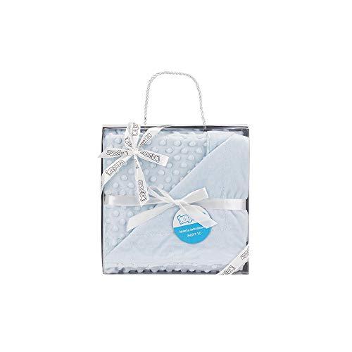 Manta para bebés, 0.80 x 1.10 m Manta para recién Nacidos Mantitas para Bebes Suave y Confortable Cálida niña y niño Mantas para Todas Las Estaciones (Azul Celeste)