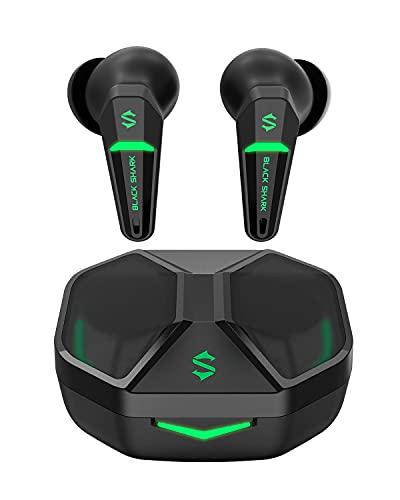 Black Shark Cuffie Bluetooth con Latenza Ultra-bassa di 55 ms, Auricolari Bluetooth Gaming con Bluetooth 5.2, Dual Mode, Driver 10 mm, Tempo di Ascolto 35 ore, Resistenza All'acquaIPX4, 4 Microfoni