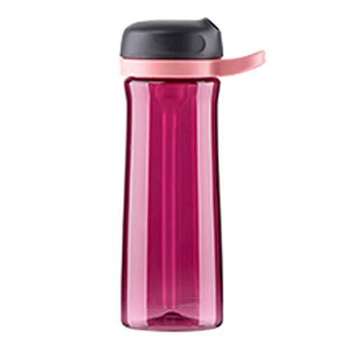 zxb-shop Jarras Botella tritan Material Deportivo con Paja, Botellas de Agua Simples for Fitness/Viajes/Camping, 21.6oz Tazas Grandes, manija Portable Jarra de Vidrio (Color : C)