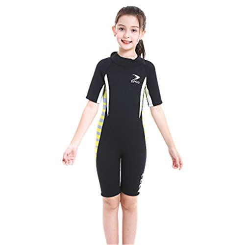 FR&RF 2.5mm Cuerpo Completo Niños Niños Short Wetsuit Térmico Neopreno Traje de baño Transporte Mojado con Cremallera para Buceo, natación, Surf
