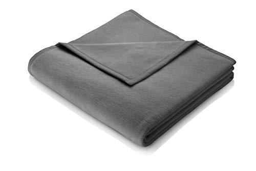 biederlack Kuscheldecke 150x200 cm I Lanawash-Schiefer I Wohndecke in grau Schurwolle, 50% Polyacryl I Made in Germany, Wolle