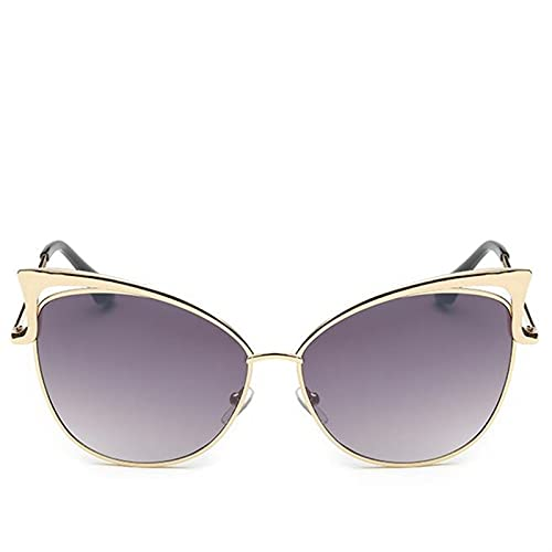 Gafas de Sol Gato Gafas de Sol Retro Vintage Gafas de Sol para Las Mujeres señoras Mujer Gafas de Sol Espejo Gafas de Sol (Frame Color : Colors, Lenses Color : Gray)
