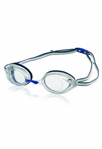 Speedo Vanquisher 2.0 Swim Goggle, White/Navy, One Size