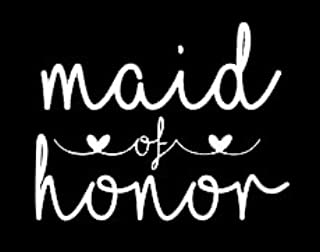 maid of honor vinyl sticker