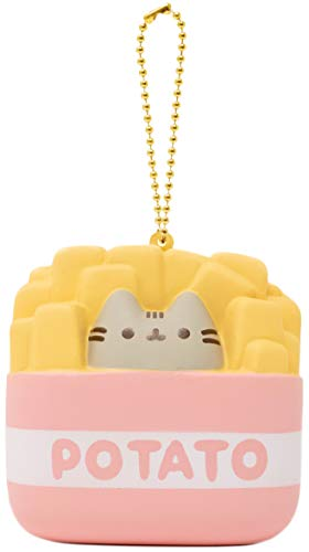 Hamee Pusheen Cat Official Licensed Junk Food Slow Rising Squishy Toy [Square Series] (French Fries 3 Inch) [Birthday Gift Bags Gift Box Party Favors Gift Basket Filler Stress Relief Toys]