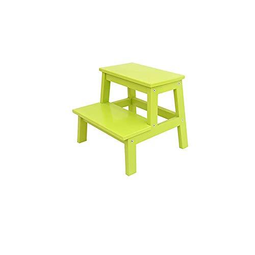 DXXWANG Taburete con escalones Taburete de madera para cambio de zapatos con escalones Soporte de flores Taburete pequeño, Cocina interior Baño Inodoro portátil Sala de estar Ligero Escalera /