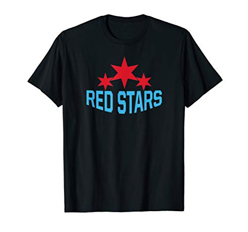 Red Stars Womens Soccer Jersey American Chicago Gift Tee T-Shirt
