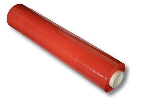 Stretchfolie / 500mm x 300m / 23my / Farbe: rot