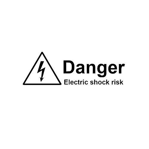 Advertencia Peligro Riesgo de descarga eléctrica Adhesivo para auto Vinilo Accesorios para...