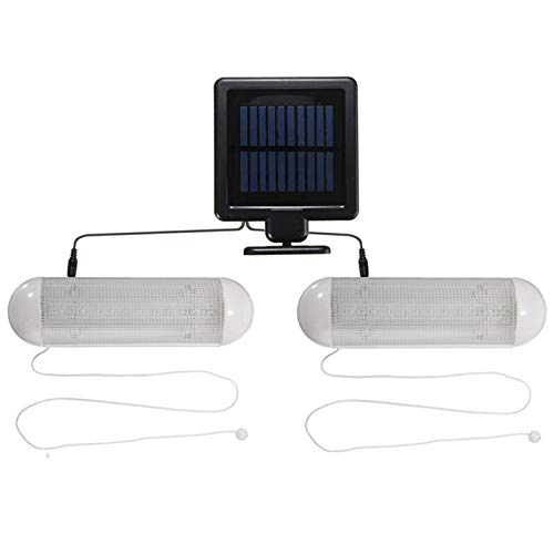 L.J.JZDY Solar Lights Solar Powered 10 LED Wall Light Waterproof Garden Fence Lamp Outdoor Garage Shed Corridor Stable Cord Switch Lamp (Color : White, Size : One Size)