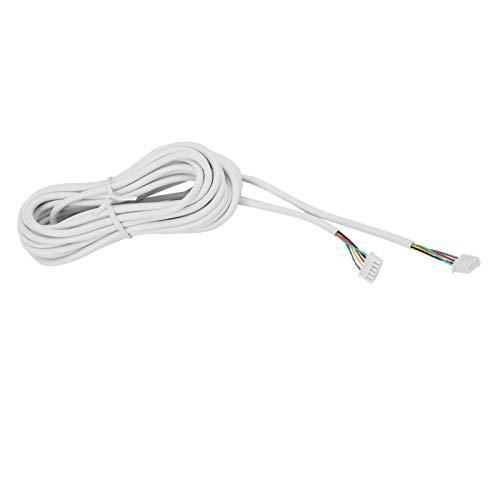 Cable de Cobre, Cable Conductor de 15 m 0,3 mm² con 2 Conectores de Cable de Respaldo para videoportero para Sistema de intercomunicación