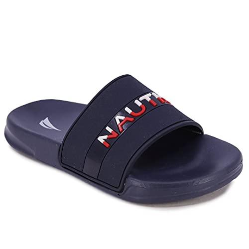 Nautica Kids Youth Slip-On Sandal Athletic Slide - Big Kid - Little Kid Boys - Girls-Wakefield Youth-Navy-4
