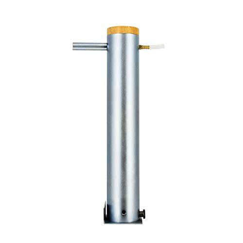WILTAnet Rauchrohr Edelstahl Kaltrauchgenerator 2,5 Liter Volumen Räuchergerät Kaltraucherzeuger BBQ Rauch-Erzeuger Grill