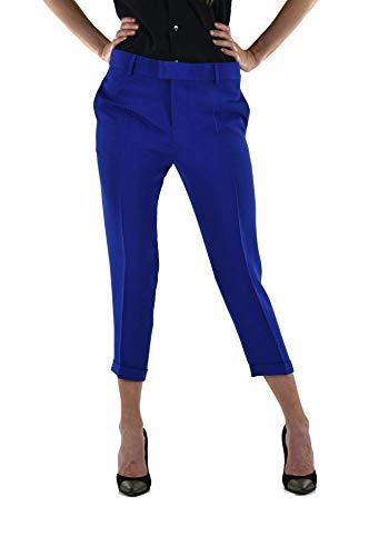 Dsquared2 Broek Zachte Elektrische Blauw Vrouwen - Maat: 42 - Kleur: Blauw - Nieuw