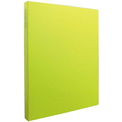 SEKISEI アルバム ポケット クリヤーファイル 高透明 A4-S 40ポケット ライトグリーン A4 51~100枚 黄緑色 KP-2514