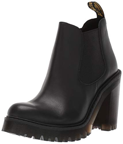 Dr. Martens Women's Hurston Fashion Boot, Black Sendal, 8