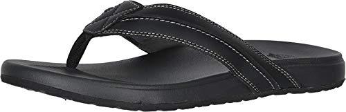 Dockers Mens Freddy Casual Flip-Flop Sandal Shoe, Black, 9 M