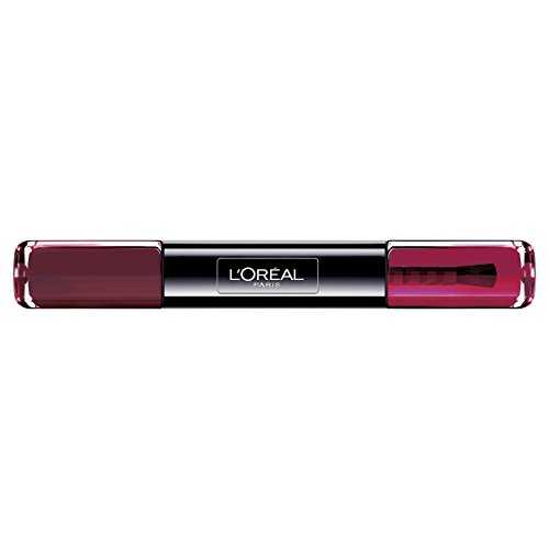 L'Oréal Paris Infaillible Nagellack Bordeaux / 2 in 1 Top Coat und Unterlack in Dunkelrot / 016 Burgundy / 1 x 10 ml