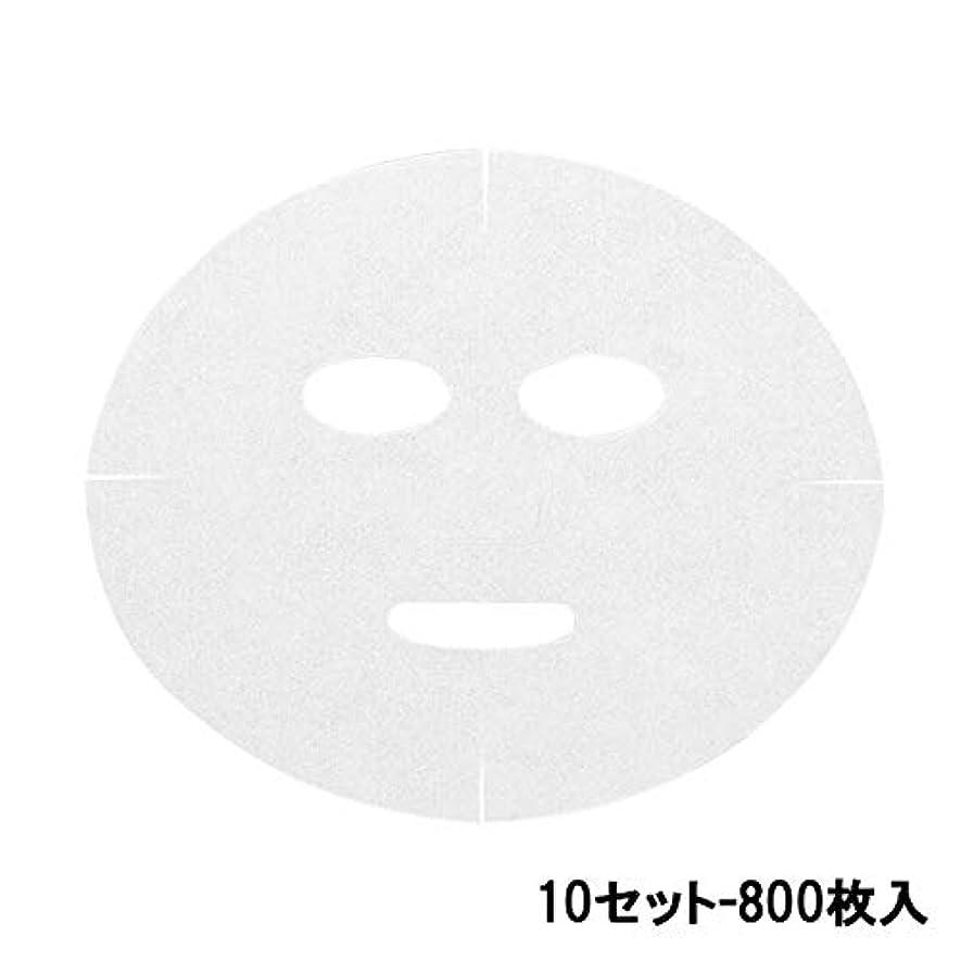 襟スポークスマンそれに応じて高保水 フェイシャルシート (マスクタイプ 化粧水無) 80枚 24×20cm (10セット-800枚入) [ フェイスマスク フェイスシート フェイスパック フェイシャルマスク シートマスク フェイシャルシート フェイシャルパック ローションマスク ローションパック ]