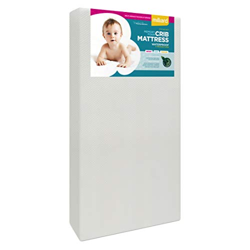 Milliard Premium Memory Foam Hypoallergenic Infant Crib Mattress and Toddler Bed...