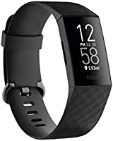 Fitbit Charge 4 Fitness and Activity Tracker with Built-in GPS, Heart Rate, Sleep & Swim Tracking, Black/Black, One Size