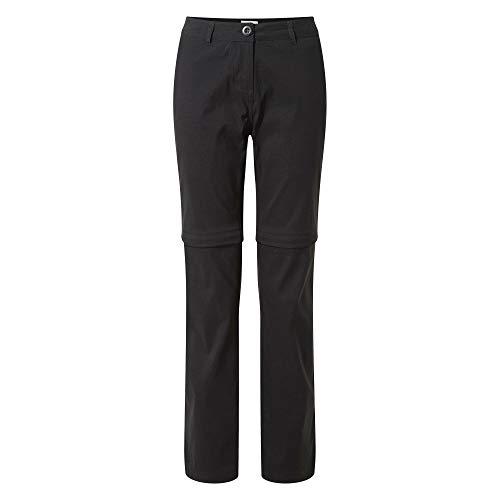Craghoppers Kiwi Pro Pantalon Convertible pour Femme Noir Taille 36
