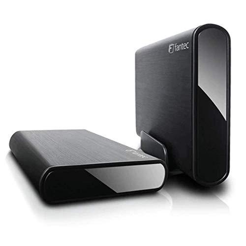 FANTEC DB-ALU3e-6G Externes Festplattengehäuse (für 8,89 cm (3,5 Zoll) SATA Festplatte, unterstützt SATA III 6G Festplatten und USAP, USB 3.0 SUPERSPEED und eSATA, Aluminium Gehäuse) schwarz