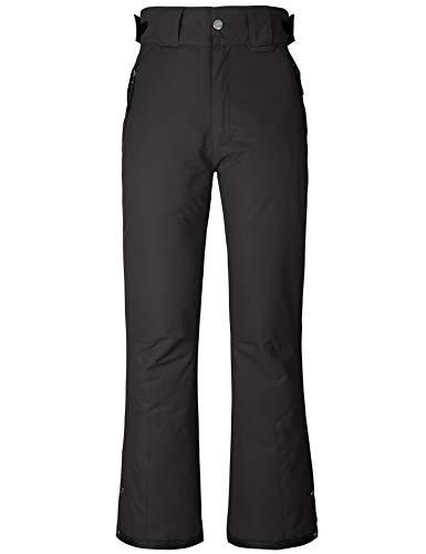Wantdo Women's Insulated Warm Padding Snow Pants Waterproof Bib Pants Black M