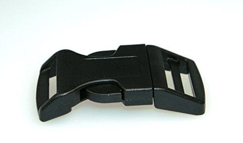 Gebogene Steckschliesser fuer 15mm breites Gurtband - 10 Stueck