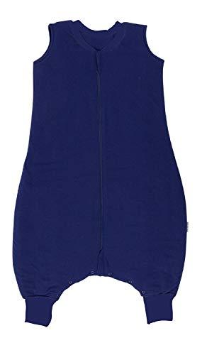 Schlummersack Schlafsack mit Beinen als Ganzjahres-Variante in 2.5 Tog - Dunkelblau - 90cm für eine Körpergröße von 90 bis 100 cm