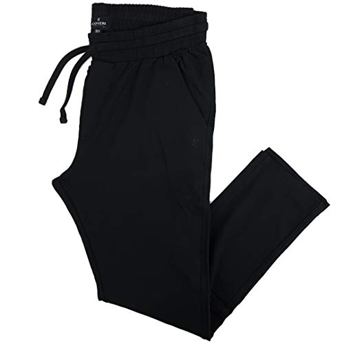 Pantaloni Tuta Uomo Cotone Leggero Larghi Taglie Forti Blu Nero 3XL 4XL 5XL 6XL (4XL - Nero)