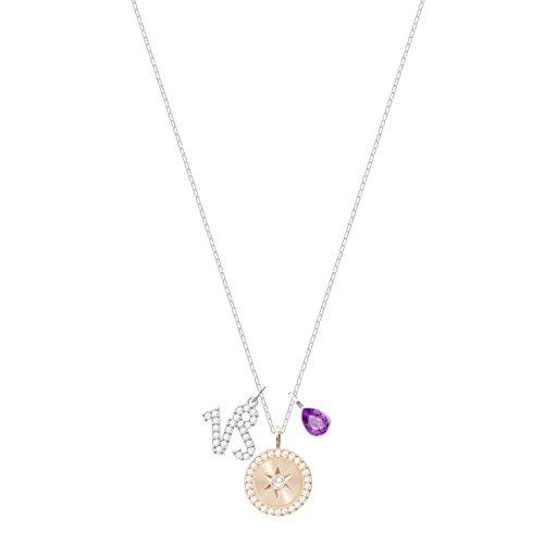 Swarovski Steinbock Zodiac Anhänger für Frauen, lilafarbenes Kristall, rhodiniert