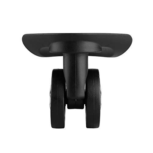 Ruedas Accesorios Reparación sustitución de contraseñas Caja De Maletas ruedas Maleta Trolley Maleta universal ruedas (Colore : W130(4 Wheels) Black)