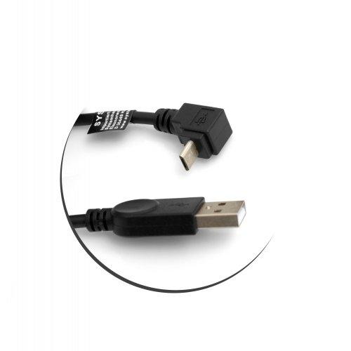 System-S Micro USB Kabel 90° Grad abwärts gewinkelt Winkel Adapter Datenkabel Ladekabel 27 cm