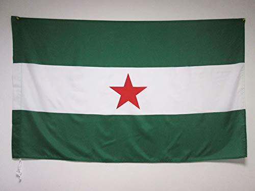 AZ FLAG Bandera de Andalucia ARBONAIDA 150x90cm para Palo - Bandera INDEPENDENTISTA ANDALUZA - NACIONALISMO Andaluz 90 x 150 cm