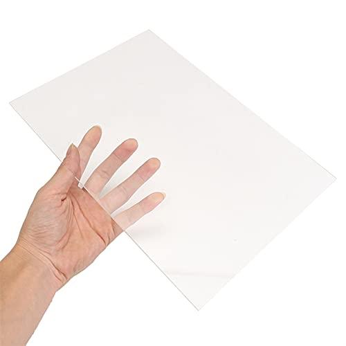 ZhengELE 200x300mm Transparent Extruded Plexiglass Clear Plastic Sheet Acrylic Board Organic Glass Polymethyl Methacrylate 1mm 3mm 10mm (Color : 200x300x3mm)