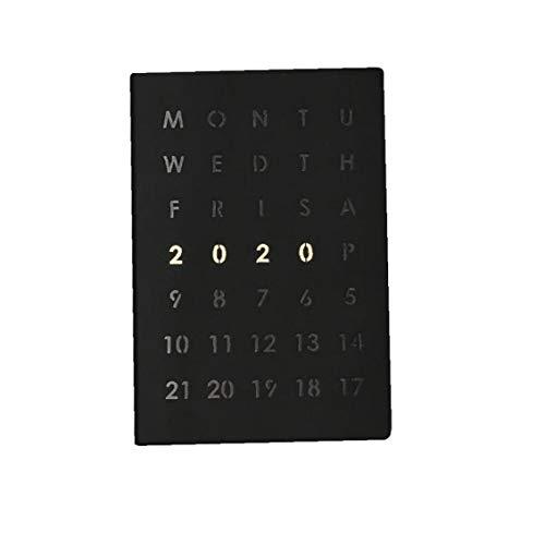 2020 Notebook multi funzione Agenda Business Notebook A5 quotidiano Nota riunione ufficiale Schedule libro di scuola stazionario regalo