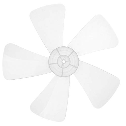 iEFiEL Aspa de Ventilador de 5 Hojas 16 Inches Aspas Hojas Plásticas de Ventilador Reemplazo para Ventiladores de Techo Ventilador de Pie Ventilador de Mesa Repuestos Ventilador Marfil One Size