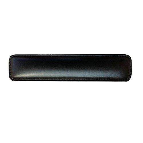 Alxcio Repose Poignet Clavier Souple PU en cuir Repose-poignet pour Clavier avec Mousse de Remplissage Pad Anti-dérapant pour PC, Ordinateurs, de Bureau et de Couleurs en Noir/ Blanc/ Or/ Rose