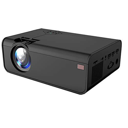 IUANUG Mini Proyector Sistema Android 1280 * 720P Soporte De Resolución 4K con WiFi 3D Bluetooth Home Cinema Projector Home Cinema,Negro