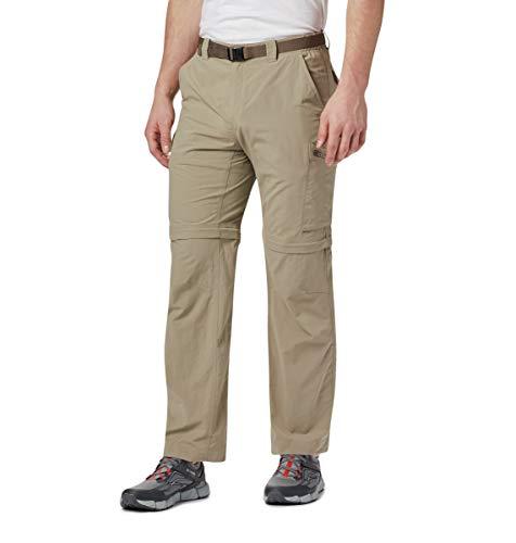 Columbia Homme Pantalon de Randonnée 2 en 1, SILVER RIDGE CONVERTIBLE PANTS, Nylon, Brun (Tusk), Taille: 44, AS8004