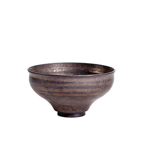 GBCJ Cerámica cruda Antigua, Taza de lámina de Oro de Estilo japonés, Taza de té, Master Cup, Taza pequeña, cerámica, Taza de té, Taza Individual, Tazas de Bronce y Oro