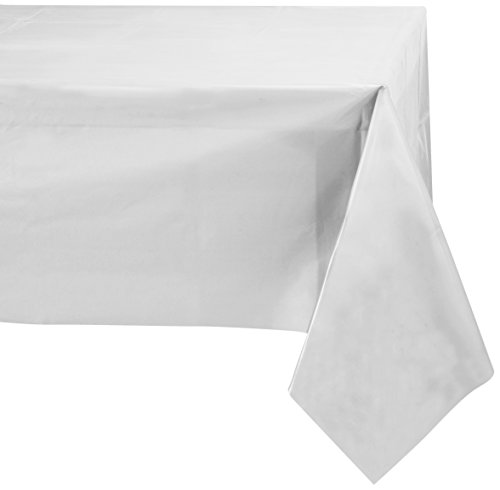 Jubilee 54-Inch-By-108-Inch PEVA Table Cover, 4 Count, White